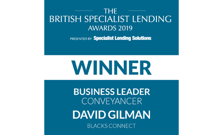 David Gilman Blacks Solicitors LLP Leeds, BSLA 2019 Winner
