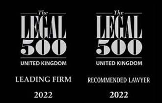 Legal 500 2022 homepage
